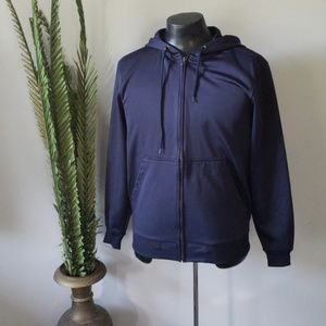 Champs navy long sleeve zip up hooded jacket